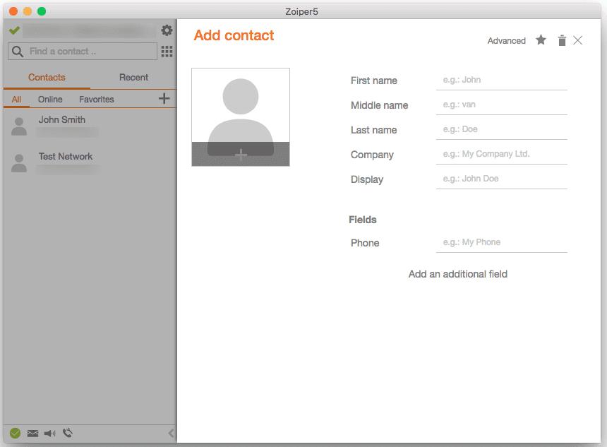 Zoiper5 Screenshot