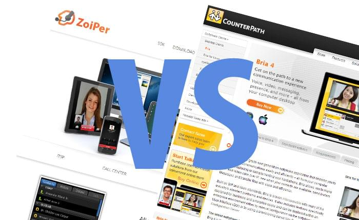 Zoiper vs Bria Softphone Comparison
