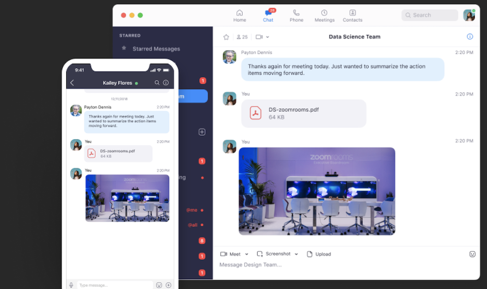 Zoom chat messaging